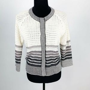 St. John Wool Blend Knit Cardigan